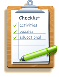 Checklist activities puzzles educational